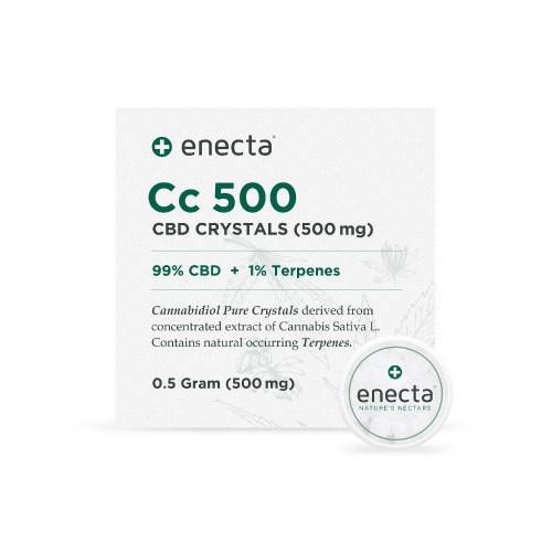 Cristales cosméticos 99% de CBD   Formato 0,5 gramos