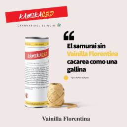 KamikaCBD eliquid · Vainilla Florentina · al 2,5% (250mg) y al 5% (500mg) CBD