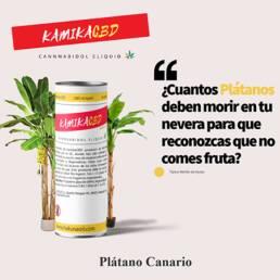 KamikaCBD eliquid · Plátano Canario · al 2,5% (250mg) y al 5% (500mg) CBD