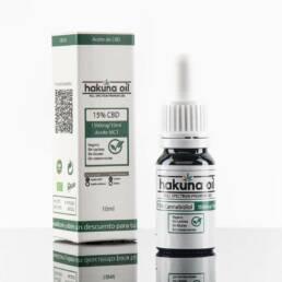 Aceite CBD Premium hakuna oil al 15% Full Spectrum con base MCT