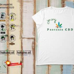 Camiseta para mujer · Yo Soy ProfesorCBD · Color blanco